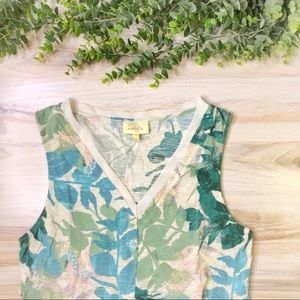 Anthropologie Deletta Floral Tank Top Sleeveless